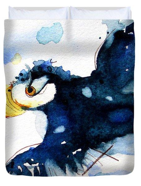 Puffin Flight Duvet Cover