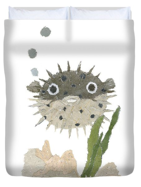 Blowfish Art Duvet Cover by Keiko Suzuki