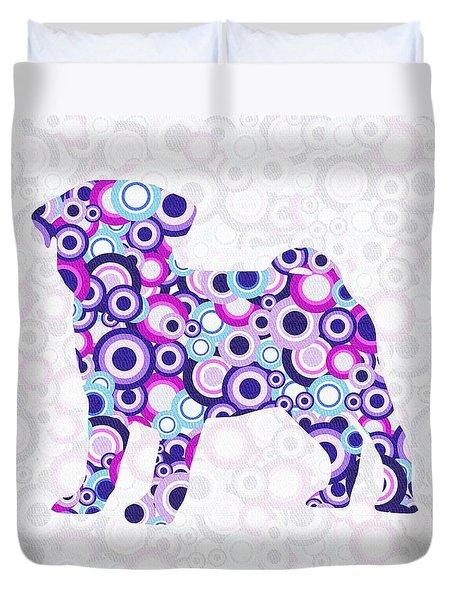 Pug - Animal Art Duvet Cover by Anastasiya Malakhova