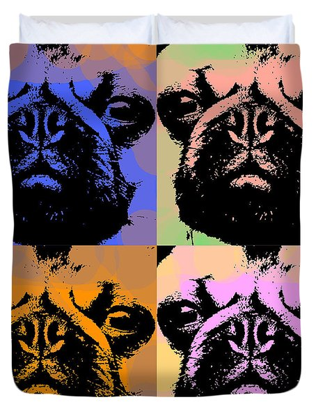 Pug Pop Art Duvet Cover