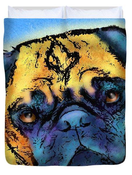 Pug Duvet Cover by Marlene Watson