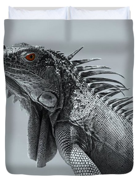 Duvet Cover featuring the photograph Pugnacious by Patrick Witz