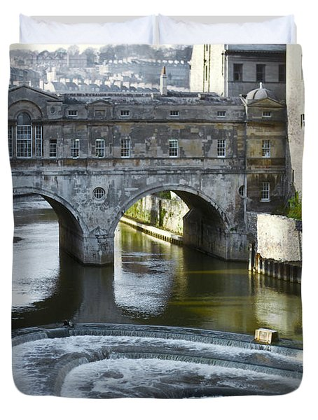 Pulleney Bridge Duvet Cover by Bob Phillips