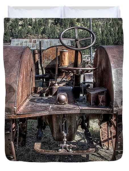 Pulling End Of Mccormick-deering Tractor Duvet Cover by Daniel Hagerman