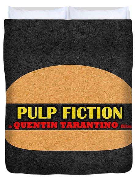 Pulp Fiction Duvet Cover by Ayse Deniz