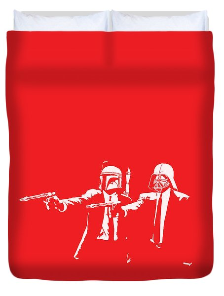 Pulp Wars Duvet Cover