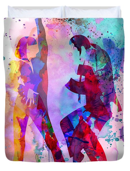Pulp Watercolor Duvet Cover