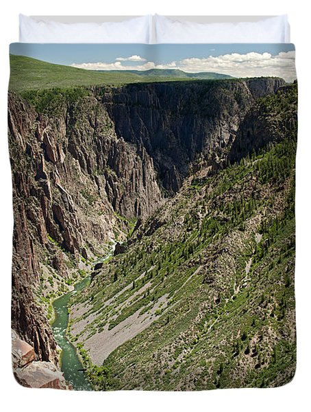 Pulpit Rock Overlook Black Canyon Of The Gunnison Duvet Cover