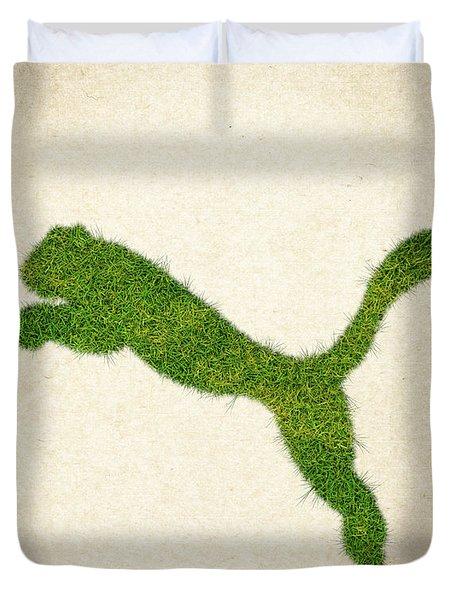 Puma Grass Logo Duvet Cover