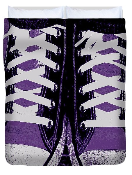 Pumped Up Purple Duvet Cover by Ed Smith