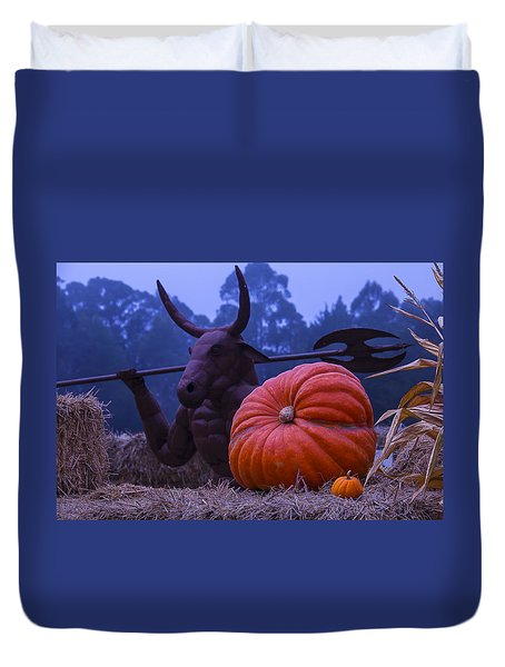 Pumpkin And Minotaur Duvet Cover