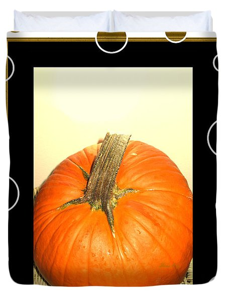 Pumpkin Card Duvet Cover
