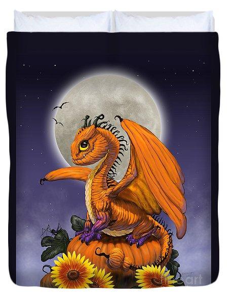 Pumpkin Dragon Duvet Cover