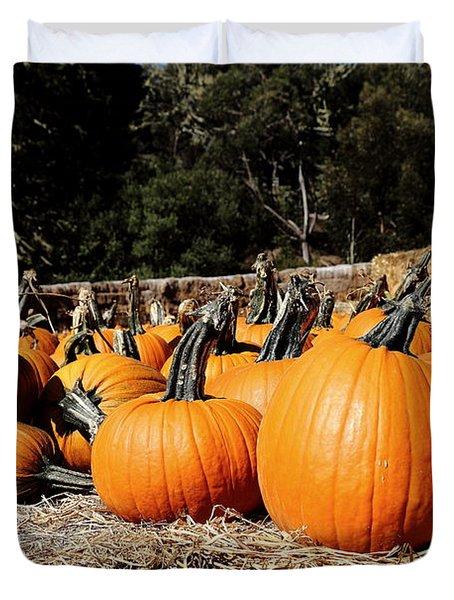 Pumpkin Goofing Off Duvet Cover