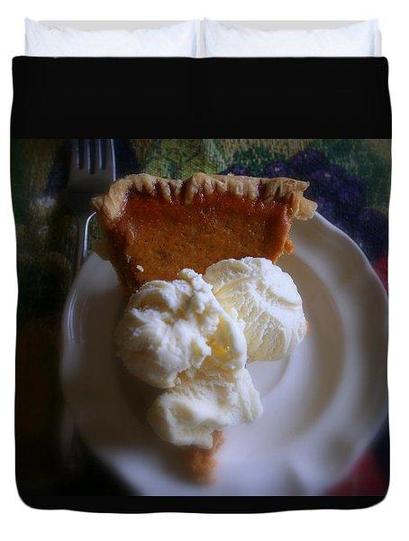 Pumpkin Pie A' La Mode Duvet Cover
