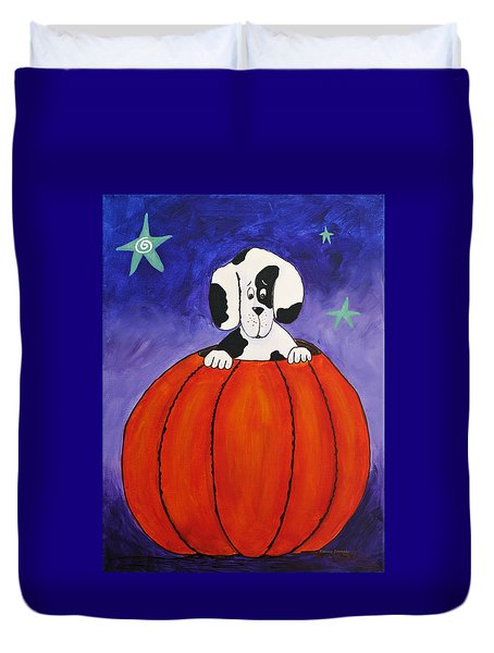 Pumpkin Problems Duvet Cover