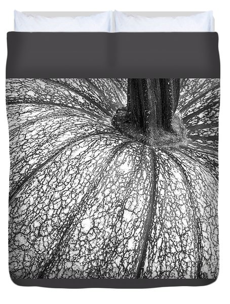 Pumpkin Pumpkin Black And White Duvet Cover