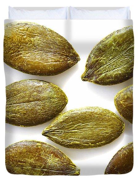 Duvet Cover featuring the photograph Pumpkin Seeds by Craig B