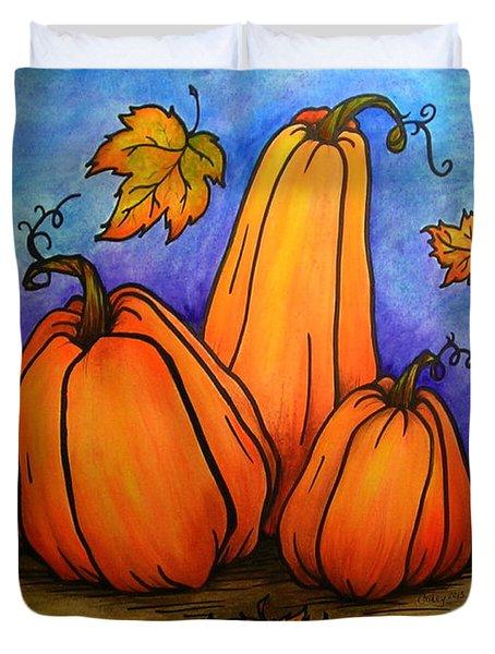 Pumpkin Trio Duvet Cover