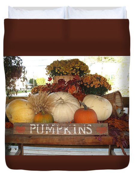 Pumpkin Welcome  Duvet Cover