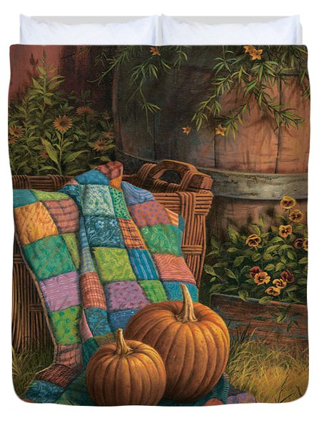 Pumpkins And Patches Duvet Cover