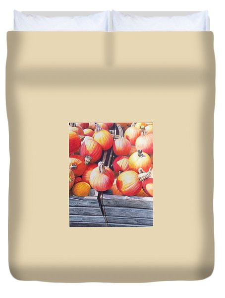 Pumpkins Duvet Cover