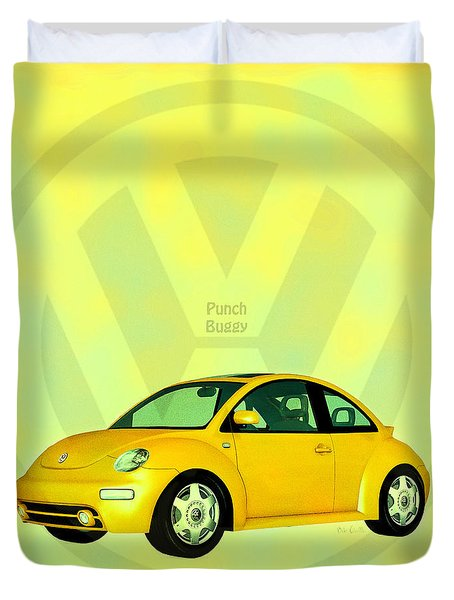 Punch Buggy Duvet Cover by Bob Orsillo