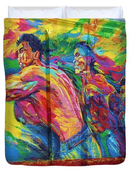 Punch Duvet Cover by Chuck  Hicks