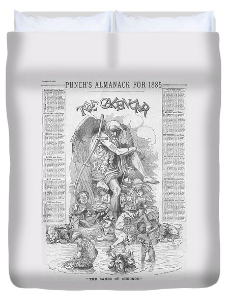 Punch's Almanack For 1885 Duvet Cover