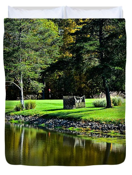 Punderson Golf Course Duvet Cover by Frozen in Time Fine Art Photography