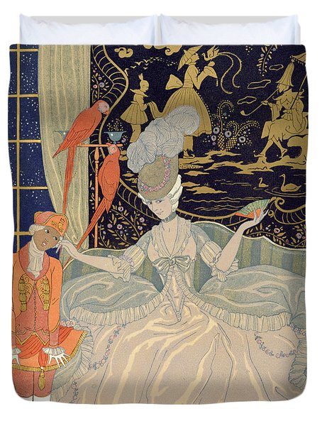 Punishing The Page  Duvet Cover by Georges Barbier