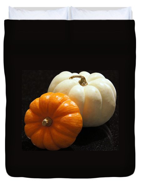 Pumpkins Duvet Cover by Debi Demetrion