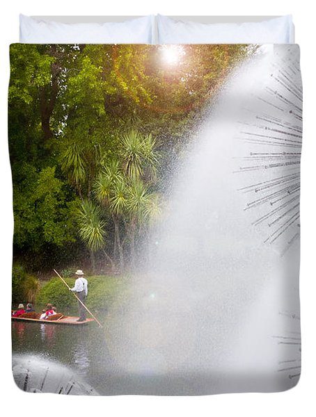 Punting On The Avon Duvet Cover