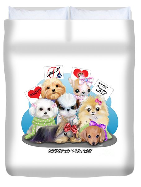 Puppies Manifesto Duvet Cover