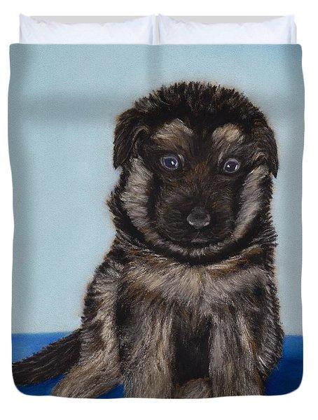 Puppy - German Shepherd Duvet Cover by Anastasiya Malakhova
