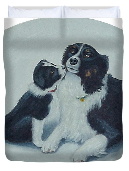 Puppy Kisses Duvet Cover
