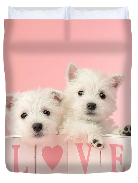 Puppy Love Duvet Cover by Greg Cuddiford