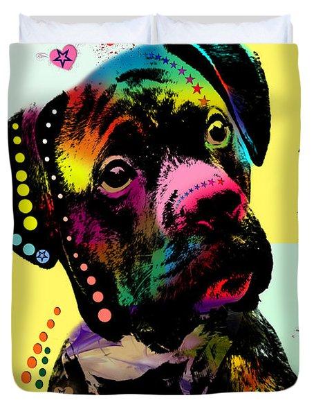 Puppy Love Duvet Cover by Mark Ashkenazi