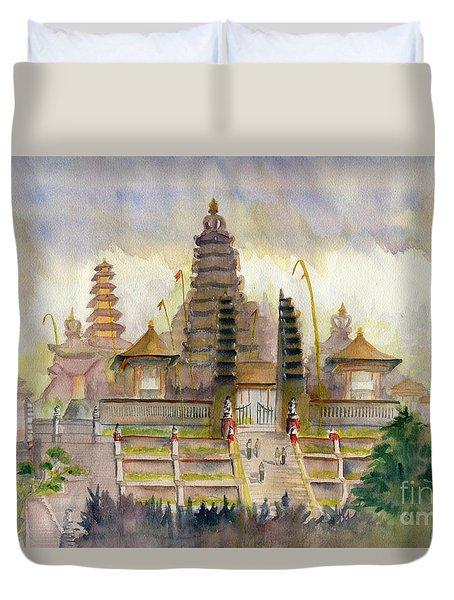 Pura Besakih Bali Duvet Cover