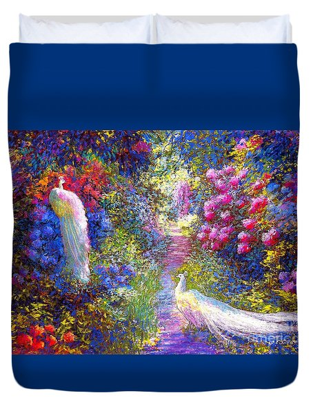 White Peacocks, Pure Bliss Duvet Cover