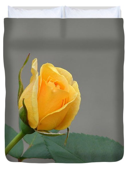 Duvet Cover featuring the photograph Pure Gold by Lew Davis