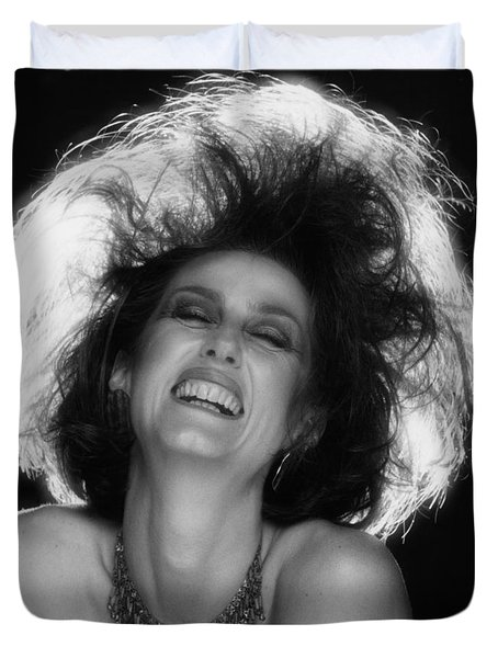 Duvet Cover featuring the photograph Pure Joy by Mark Greenberg