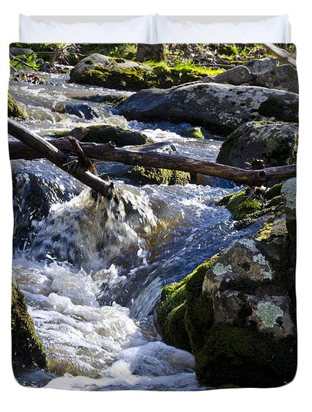Pure Mountain Stream Duvet Cover by Bill Cannon