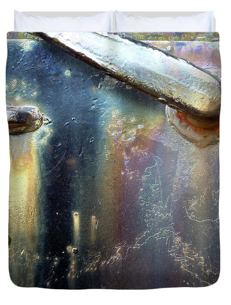 Duvet Cover featuring the photograph Pure Patina by Newel Hunter