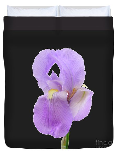 Purple Iris Duvet Cover by Scott Cameron
