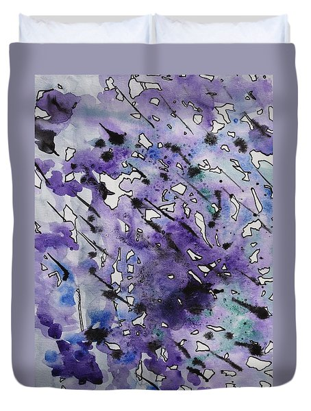 Purple Abstract Duvet Cover