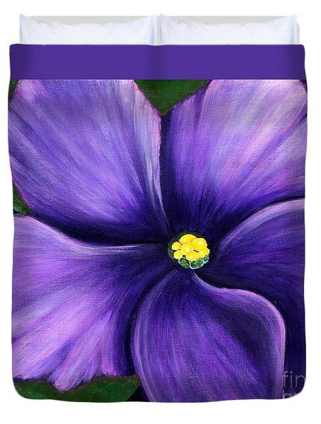 Purple African Violet Duvet Cover