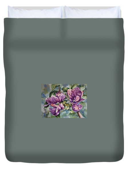 Purple Beauties - Bougainvillea Duvet Cover