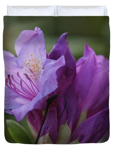 Purple Bloom Duvet Cover