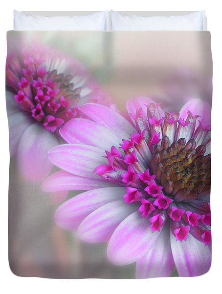 Purple Blooms Duvet Cover by David and Carol Kelly